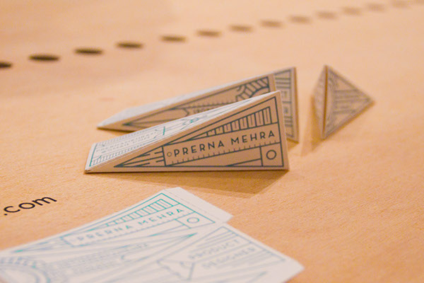 3D Tetrahedron Business Card