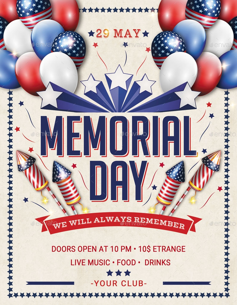 Memorial Day & Labor Day Flyer and Poster