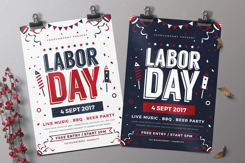 Labor Day Celebration Flyers