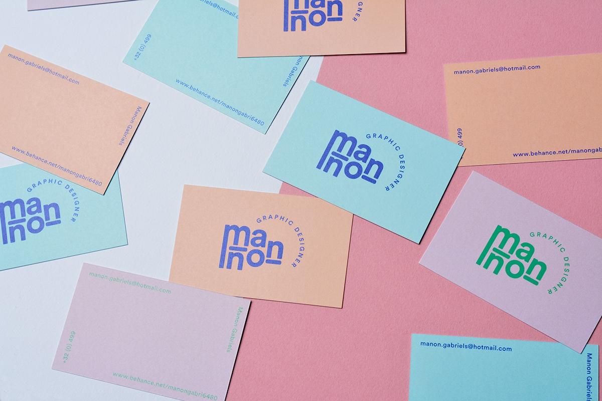 Manon Gabriels Business Cards, Portfolio & Personal Branding