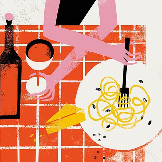 Pasta Heaven Illustration