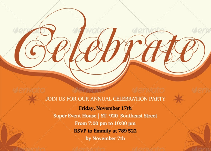 Annual Celebration Invitation Card