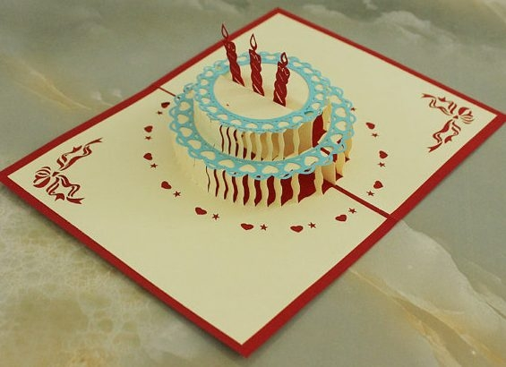 Birthday Cake Pop Up Greeting Card