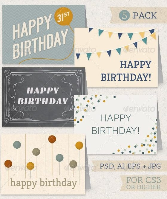 Birthday Greeting Card Cover Designs