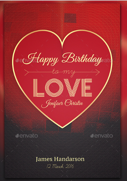 Birthday Greeting Card For Loved Ones