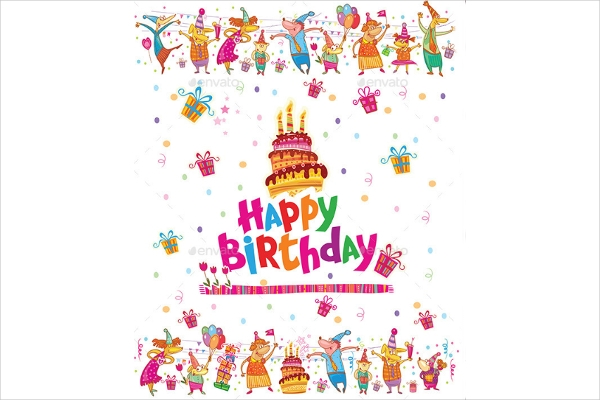 Birthday Greeting Card For Toddlers