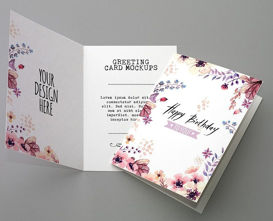 Birthday Greeting Card Mockup
