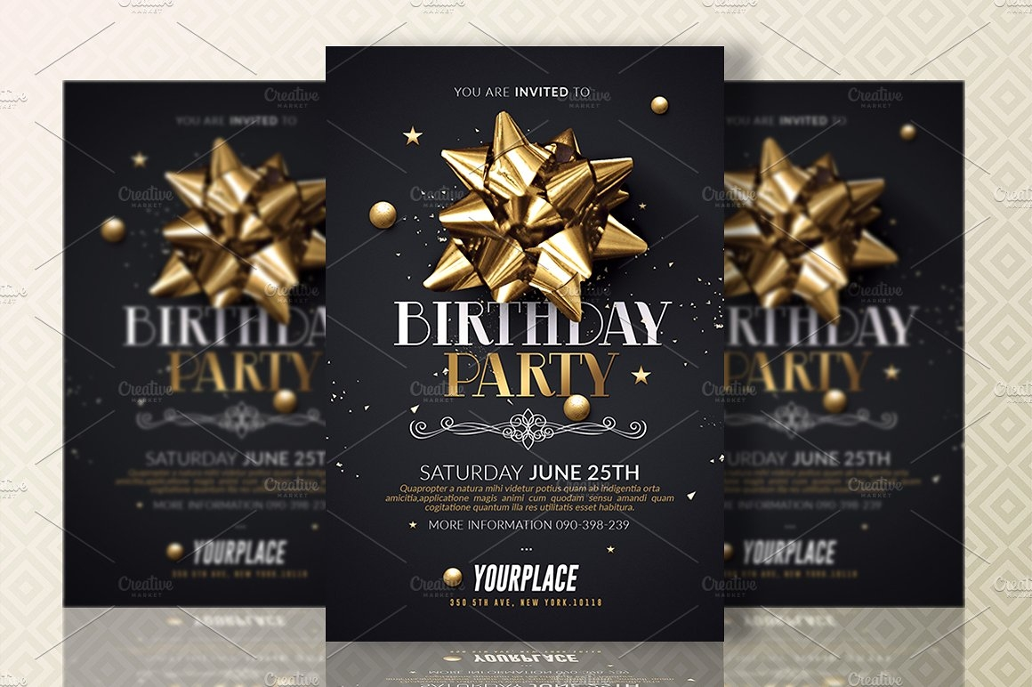 Birthday Party | Invitation Card Template
