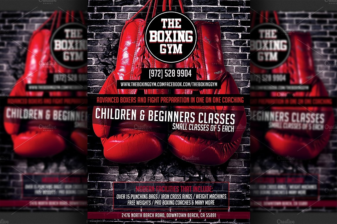 Boxing Gym Flyer Template