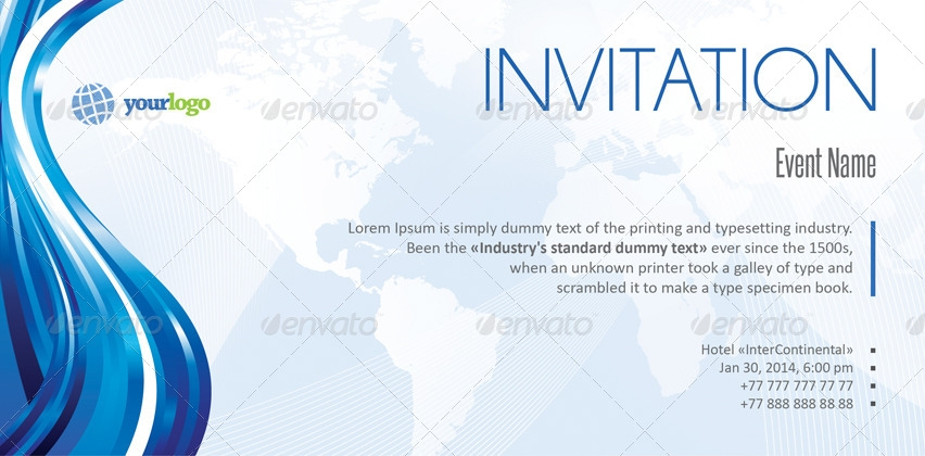 Business Event Invitation Card