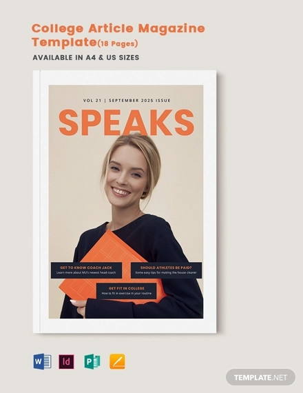college article magazine template