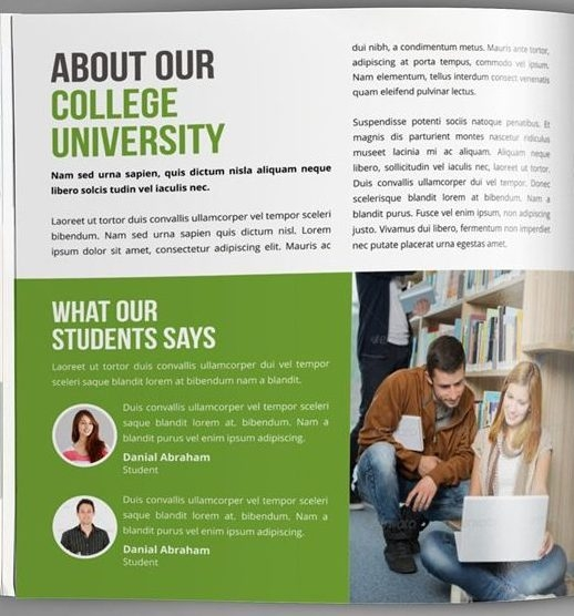 College Magazine About The University