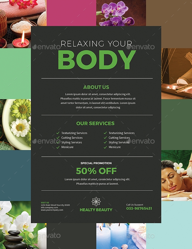 Colorful Beauty Spa Flyer
