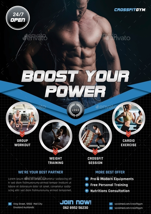 Cross Fit Gym Fitness Flyer