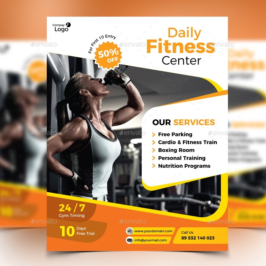 Daily Fitness Center Gym Flyer