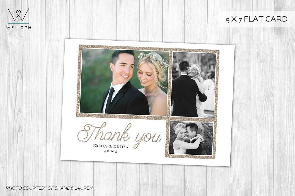 Elegant Wedding Thank You Card