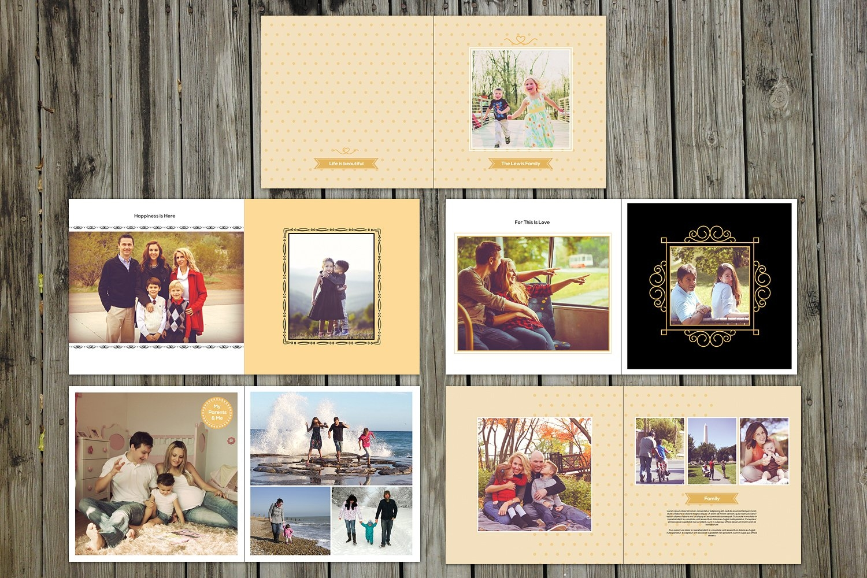 19 ways to design your family photo album. Black Bedroom Furniture Sets. Home Design Ideas