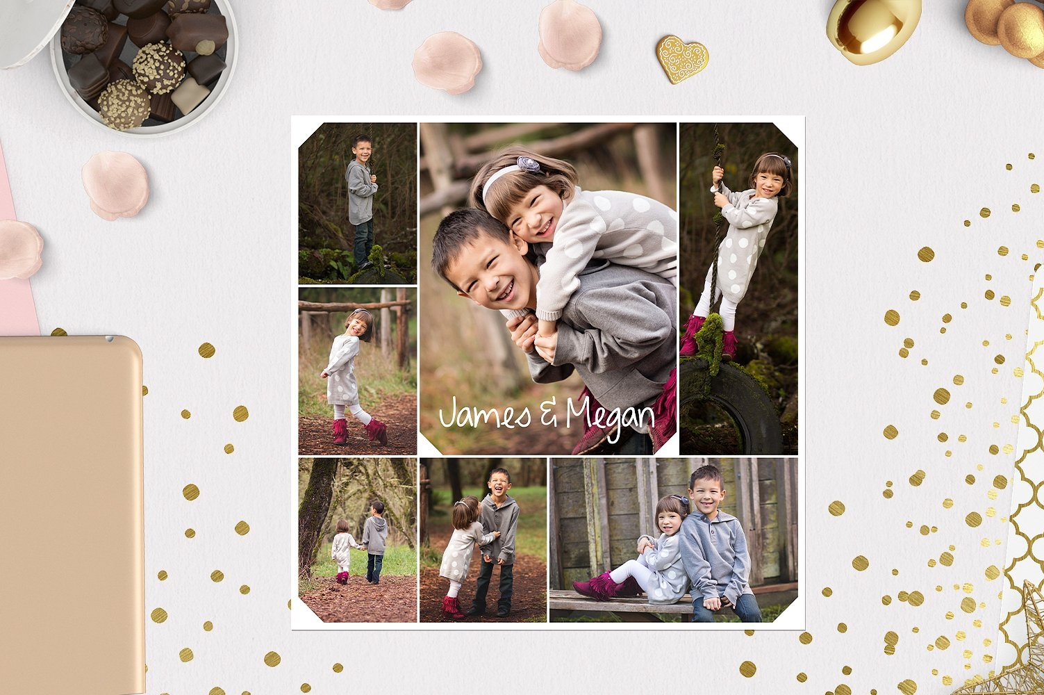 Family Photo Collage Board || Forest Trails