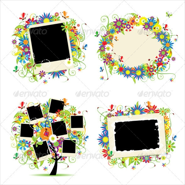 Family Tree Floral with Frames