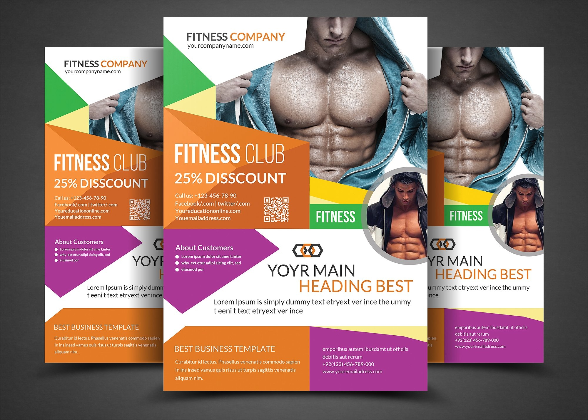 20 various designs for gym flyer