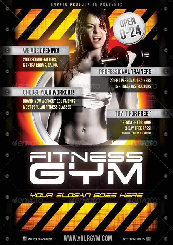 Fitness Gym Flyer Template_1
