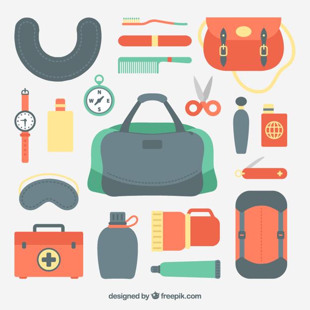 Flat Design Travel Kits