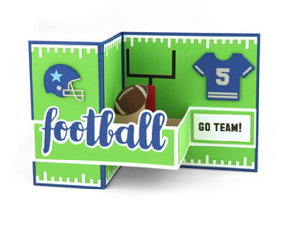 Football Pop Up Card