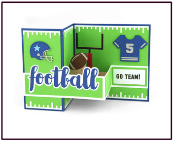 Football Pop Up card