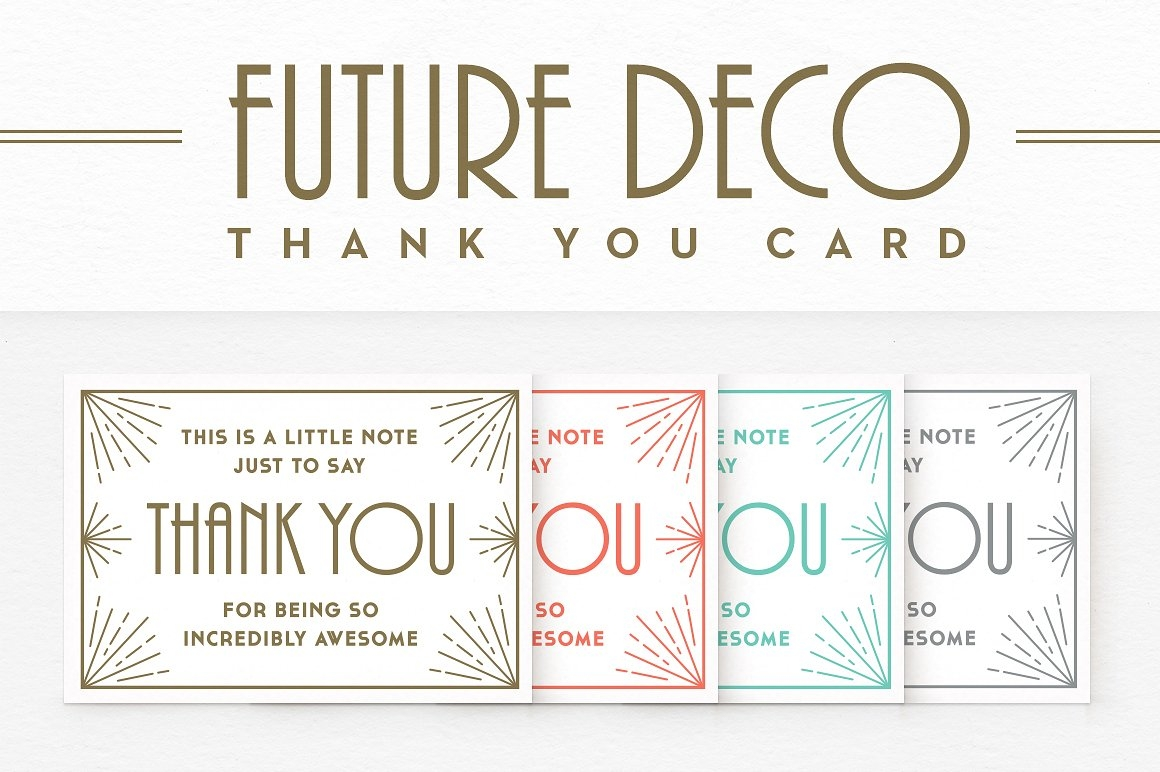 Future Deco Thank You Card