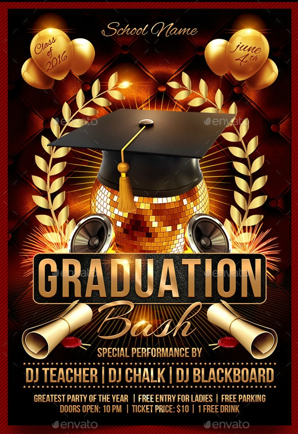 Graduation Bash Flyer
