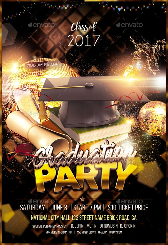 18  graduation flyer designs