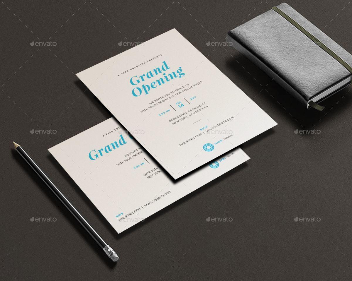Grand Opening Invitation Card