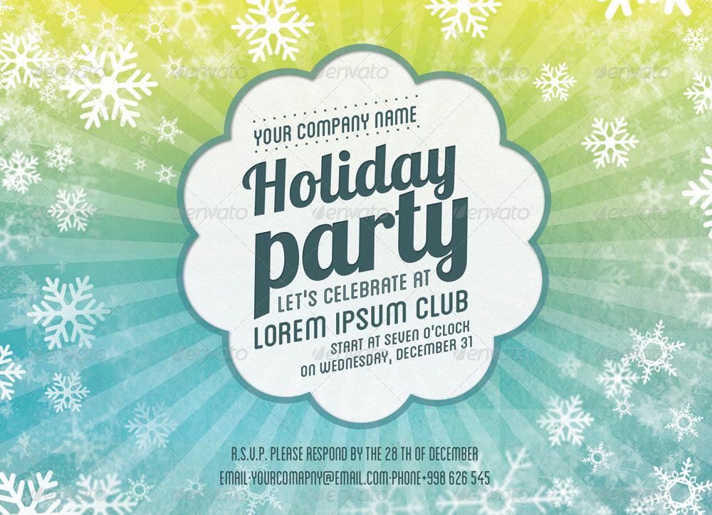 Holiday Party Invitation Card