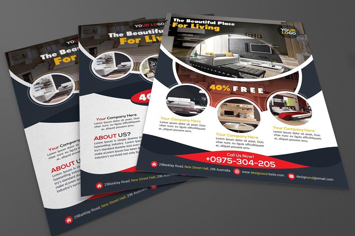 House Interior Design Flyer