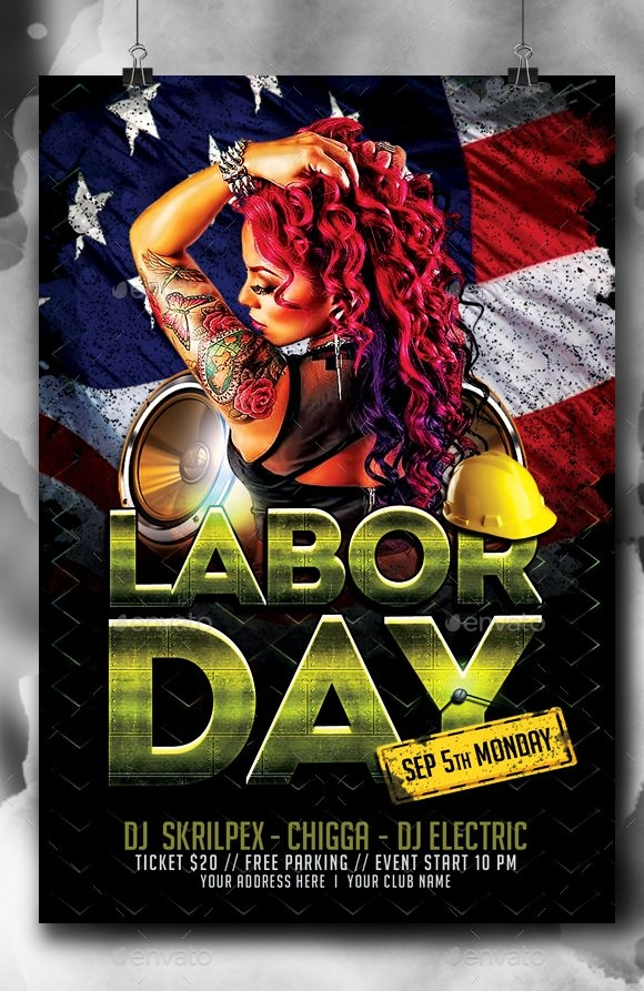 10+ Labor Day Poster & Flyer Templates
