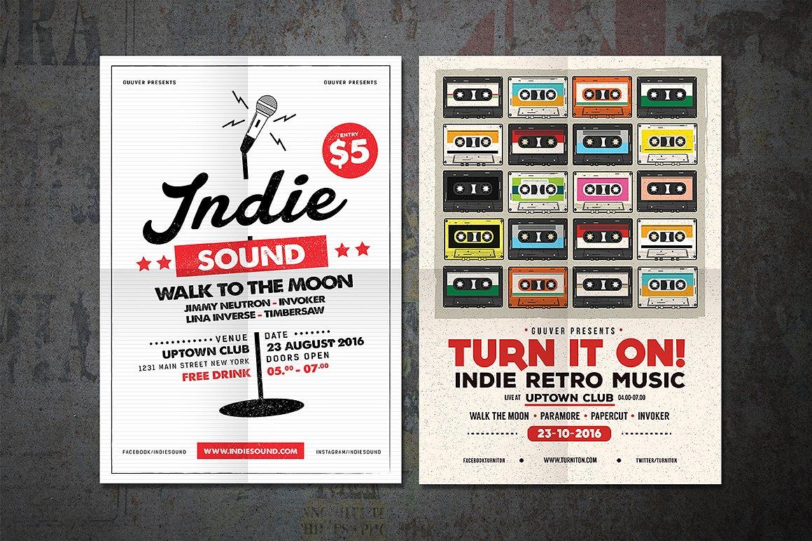 Indie Music Flyer Bundle