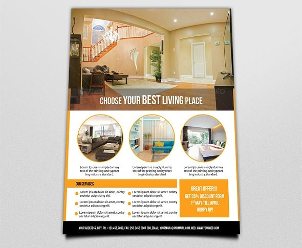 9 interior design flyers for Interior design flyer