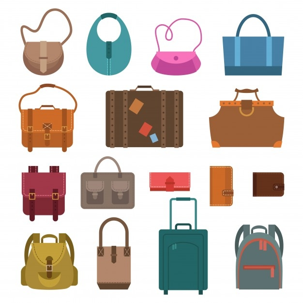 Isolated Vector Luggage Icons