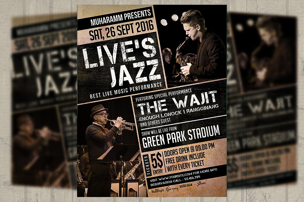 Jazz Music Event Flyer Poster