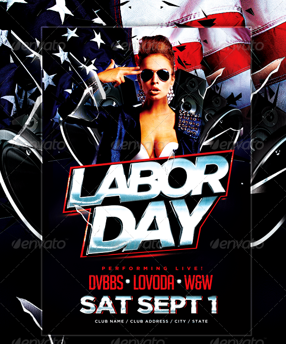 Labor Day Flyer For Parties U0026 Events