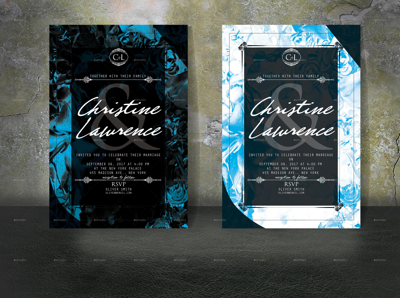 Lavish Floral Invitation Card