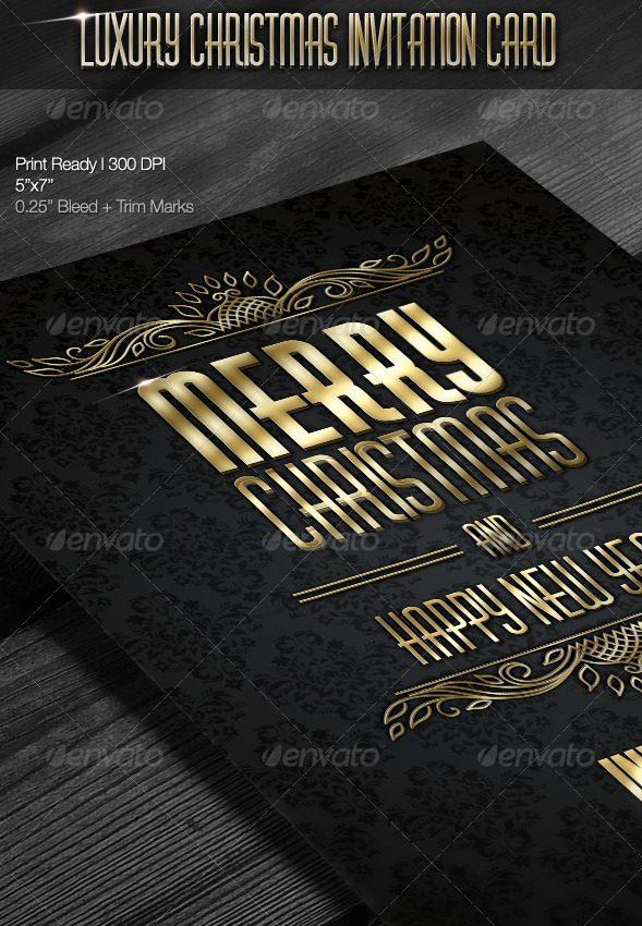 Luxury Christmas Invitation Card
