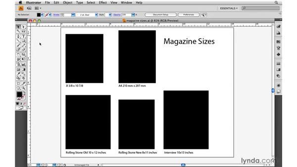 magazine sizes