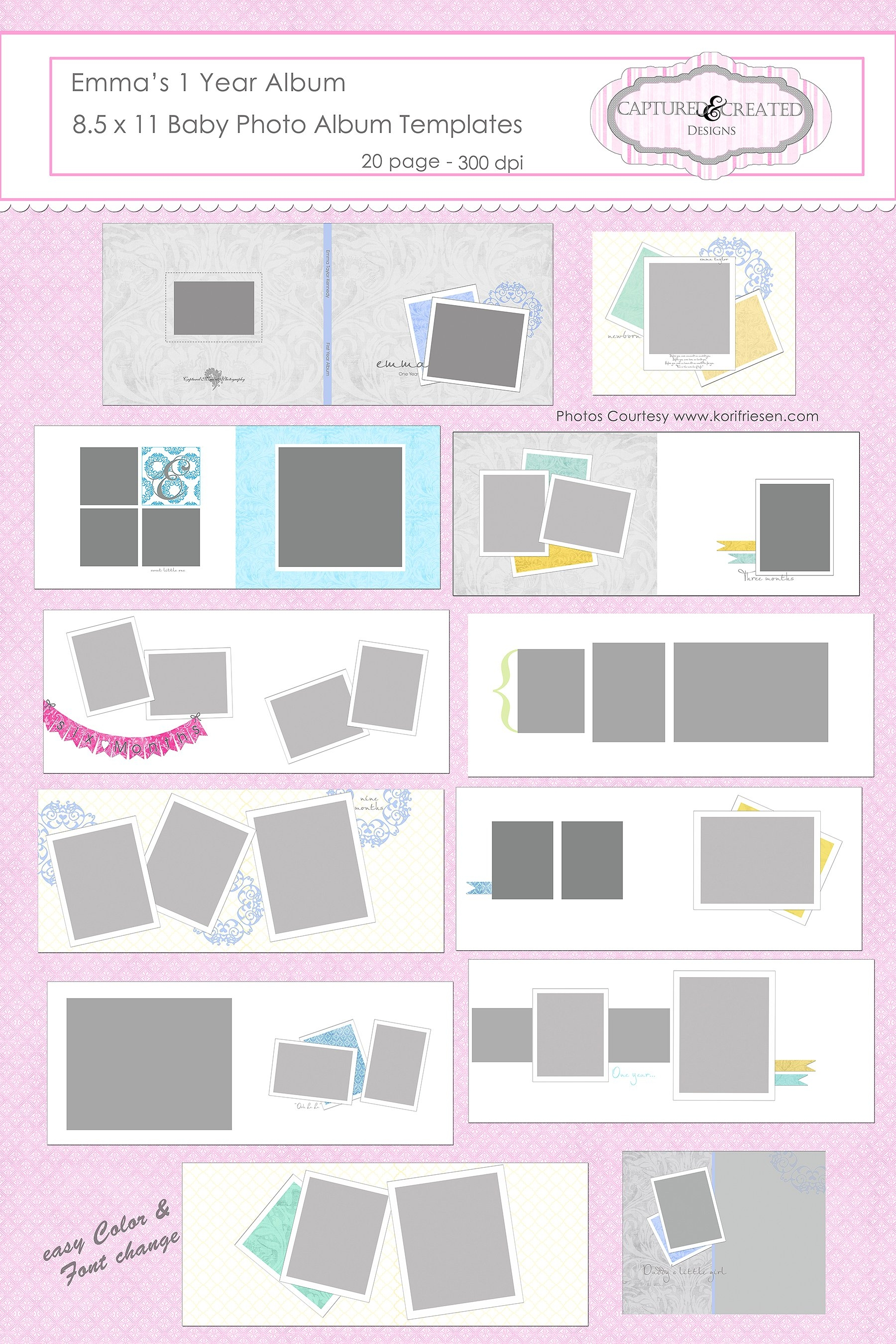 One Year Baby Album Template_1