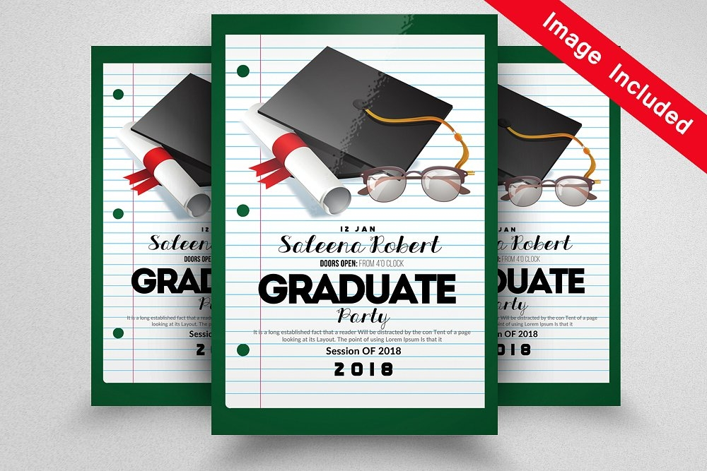 15 graduation flyer designs for Paper ad design templates