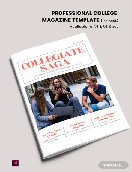 professional college magazine template