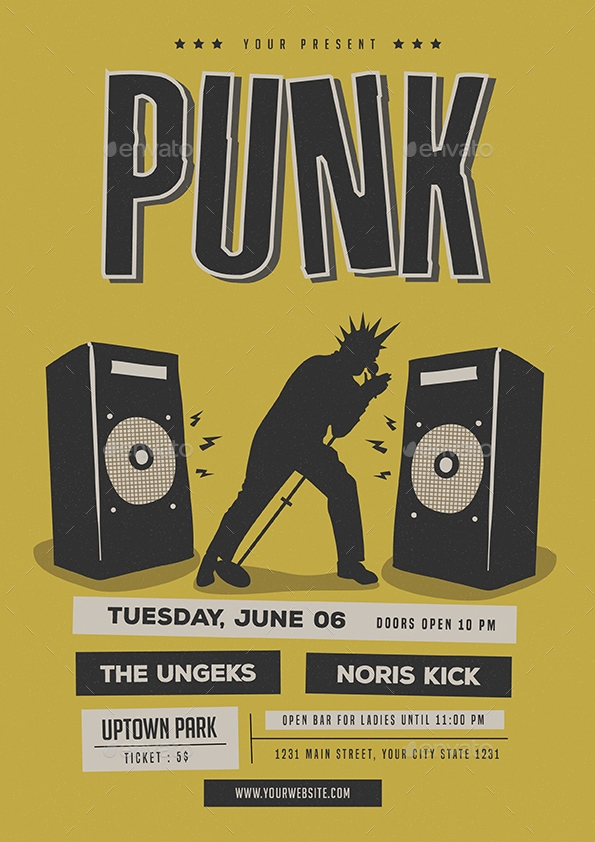 Punk Music Flyer