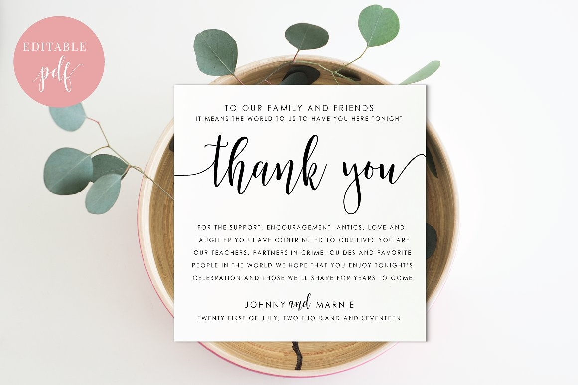 Reception Thank You Card