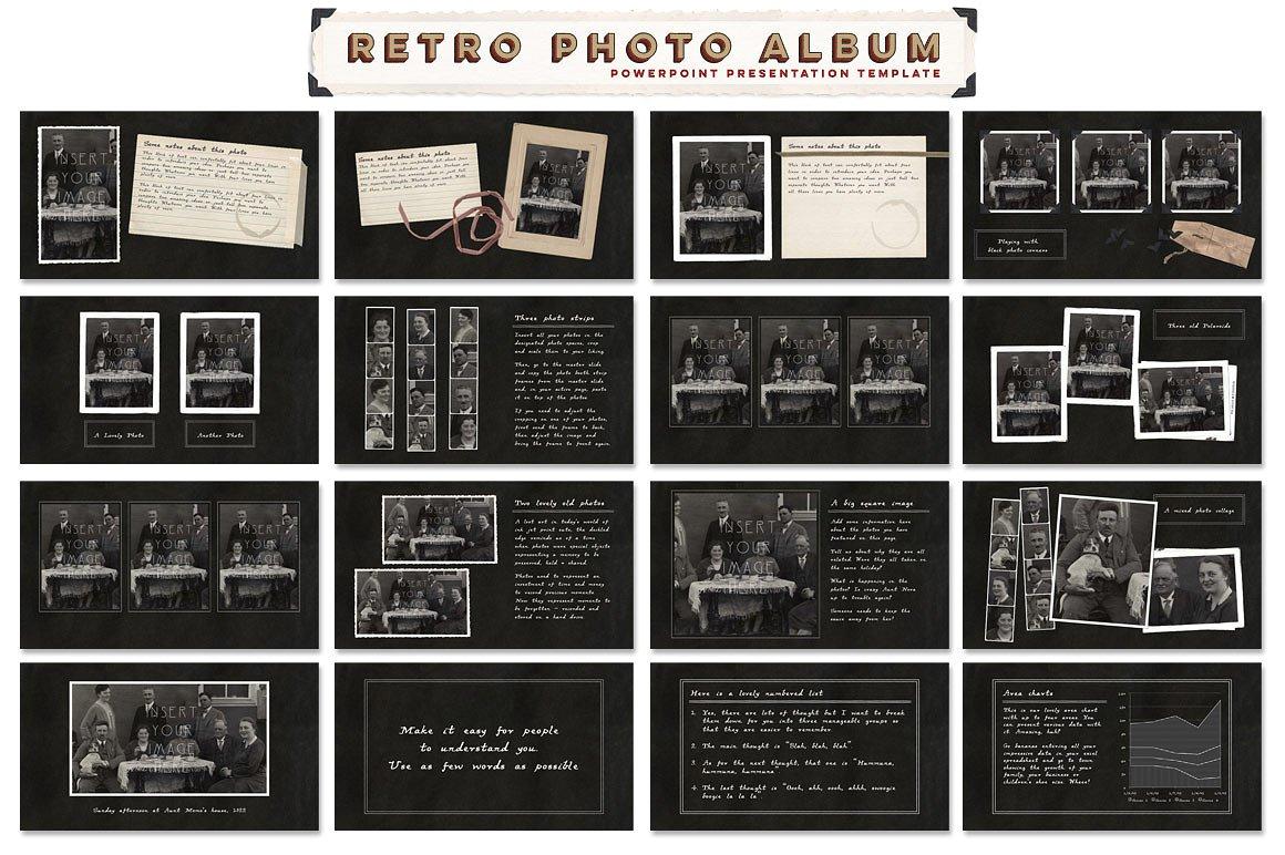 Retro Photo Album Black