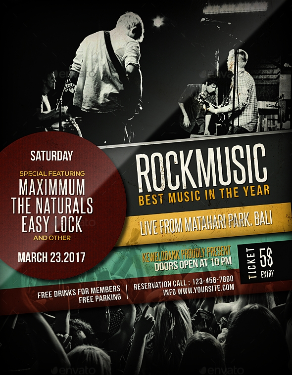 Rock Music Flyer / Poster